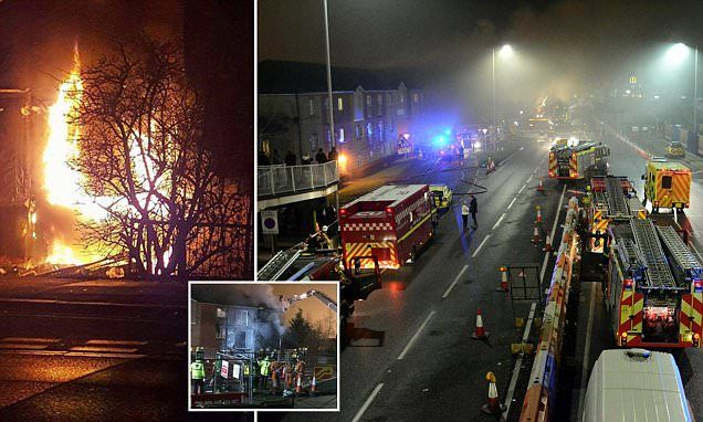 Firefighters called to explosion at block of flats