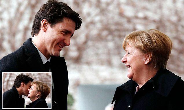 Now Angela Merkel has THAT look in her eyes for Trudeau
