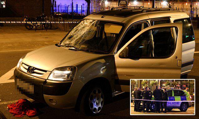 Three pedestrians left injured after man drives into them