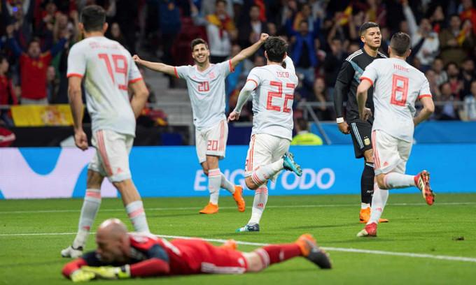 國際友誼賽精華 - 西班牙 6-1 阿根廷︱伊斯高帽子戲法 迪基亞長傳助攻