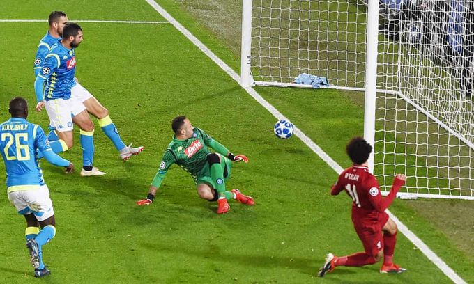 歐聯精華 - 利物浦 1-0 拿坡里︱沙拿窄角入球踢拿坡里出局 艾利臣救險做英雄