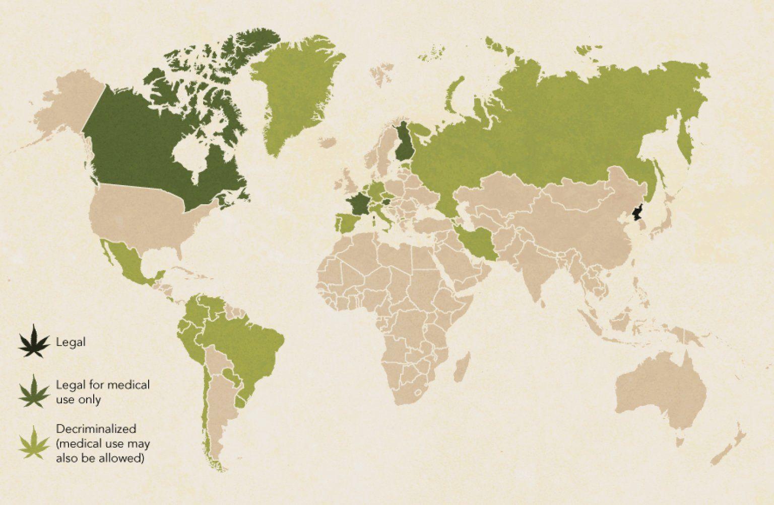 LOOK: Where In The World Can You Smoke Marijuana?