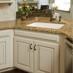 Elegant Kitchen Light Cabinets With Dark Countertops Cream