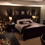 Elegant Bedroom Decor Chocolate Brown Black Sage And