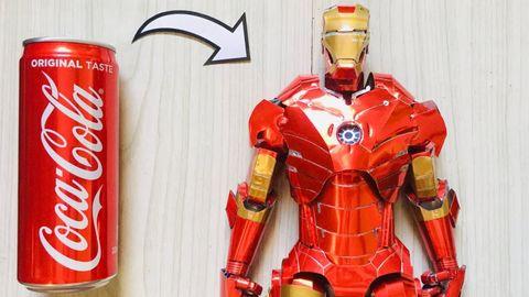 外國Marvel影迷用可樂罐砌出Iron Man!