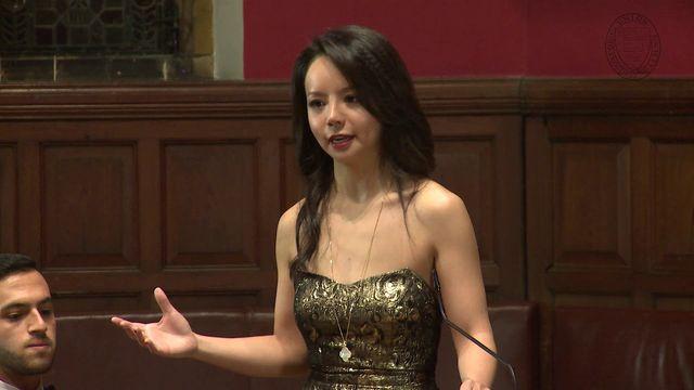 加拿大世界小姐冠军 林耶凡 在牛津大学的演讲