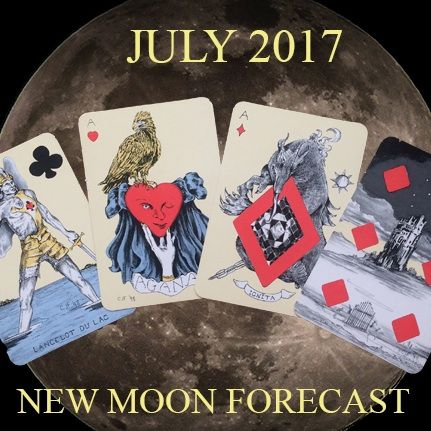 Treasure Maps, On the Back of a Bird, New Beginnings and Working for the Future: July Forecast