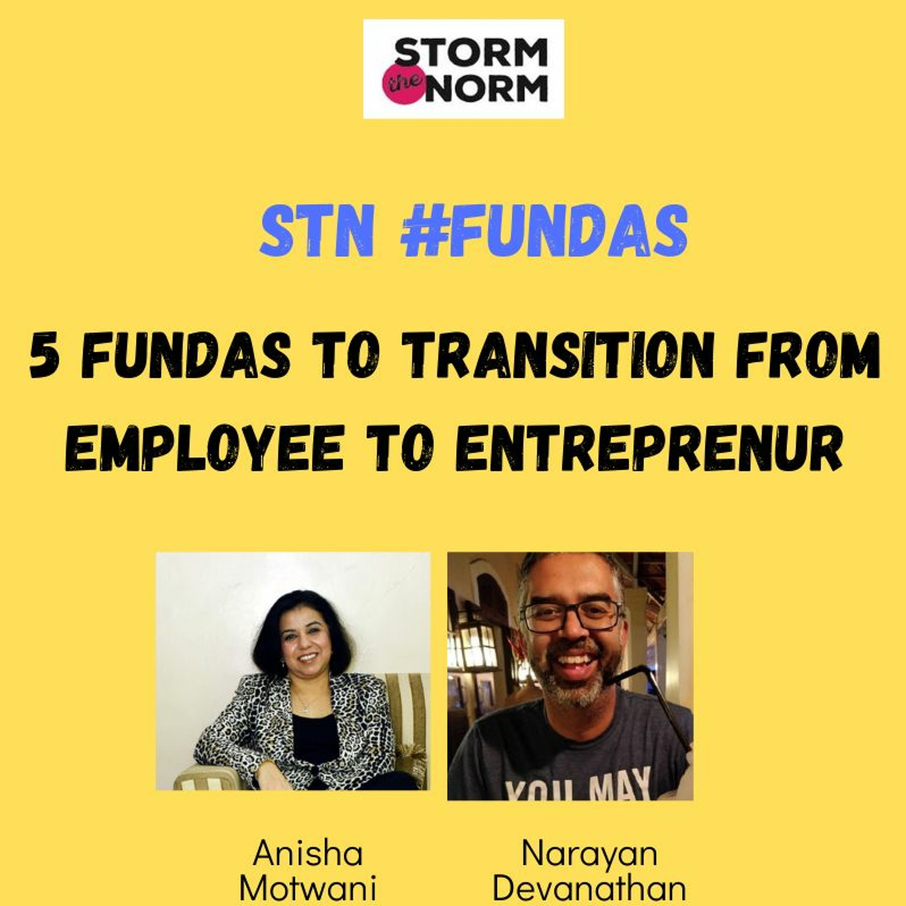 EP - 06a: 5#STN Fundas to transition from a successful Professional to a winning Entrepreneur