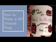 How to Make DIY Sharpie Mug.如何畫專屬馬克杯?.國際文化交流.我送給...