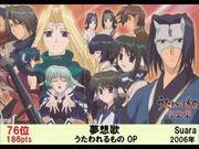 日本百大動畫歌曲排名(2008年以前)