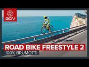 單車好手玩命表演,在不同環境下自由做出各種高難度動作