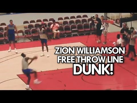 Zion Williamson成功做出罰球線起跳強力扣籃!