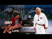【2015年10月21日!】《回到未來》闖進Jimmy Kimmel Live,而不知自拍是甚...