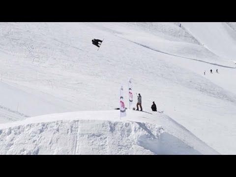 空中翻騰四周,snowboarding史上第一個1800度Quadruple Cork!