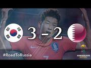 世界盃外圍賽精華-南韓 3-2 卡塔爾│孫興民一傳一射 十人南韓反勝卡...