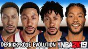 Derrick Rose 在歷年的 NBA 2K 遊戲中的變化