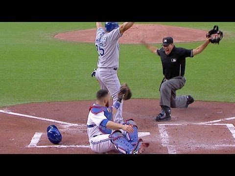 [MLB] Kendrys Morales 急煞車成功避過觸殺,反應超快!