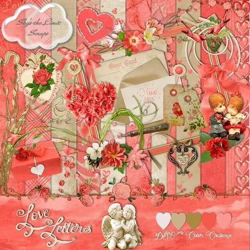 Scrap-set - Love Letters
