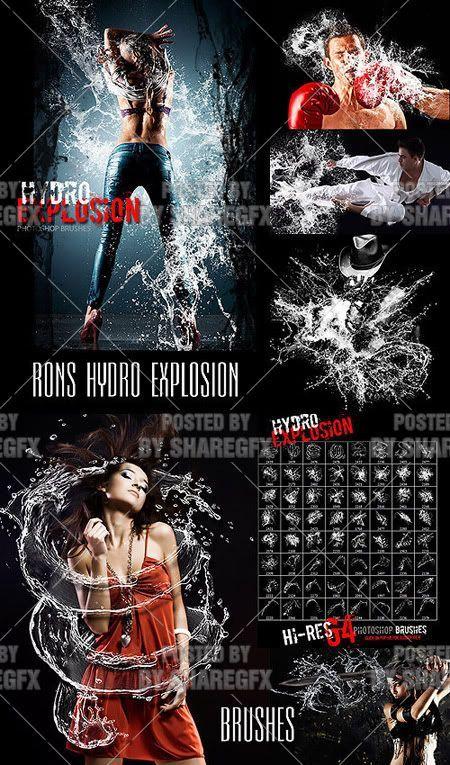 Rons Hydro Explosion- Pędzle do Photoshop
