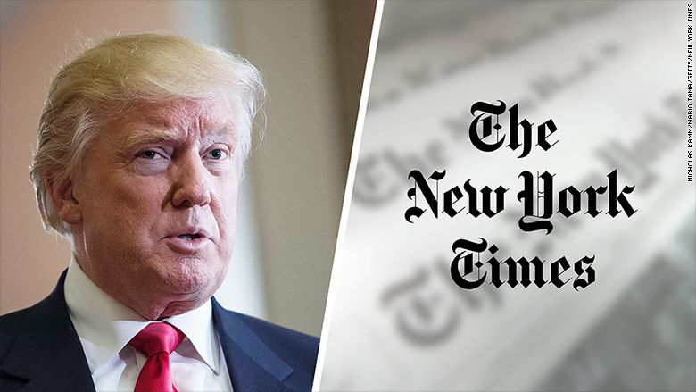 Trump says NYT 'failing' -- but stock up 30% since election
