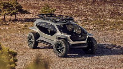 Електрическият офроудър Audi AI:Trail заменя фаровете с дронове