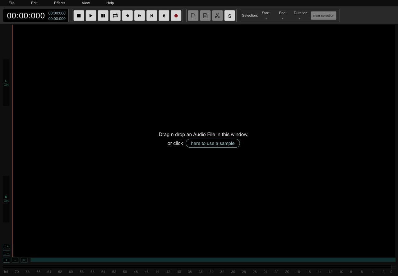 AudioMass – 开源免费支持离线使用,强大的在线音频剪辑工具