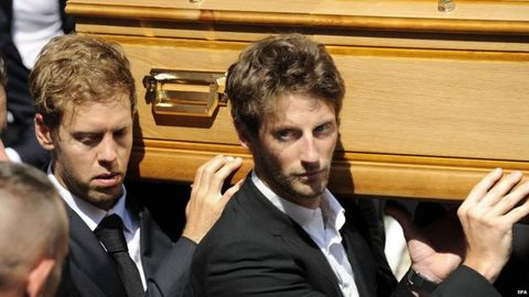 [F1] Jules Bianchi葬禮告別,Vettel與Grosjean均參與扶靈