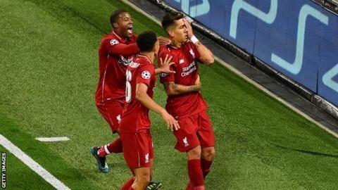 Liverpool 3-2 Paris St-Germain: Jurgen Klopp 'loved' Roberto Firmino celebrationの代表サムネイル
