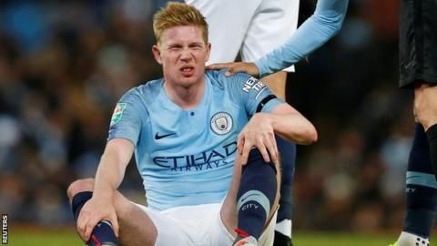 Man City's De Bruyne out for five to six weeksの代表サムネイル