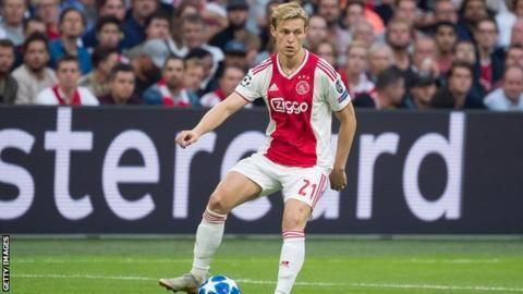 Frenkie de Jong: The Ajax midfielder linked with Man Utd, Man City and Barcelonaの代表サムネイル
