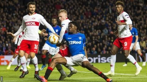 Rangers 0-0 Spartak Moscow: Steven Gerrard's side joint top of Europa League despite drawの代表サムネイル