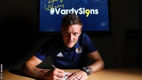 Jamie Vardy: England striker signs four-year extension with Leicester Cityの代表サムネイル