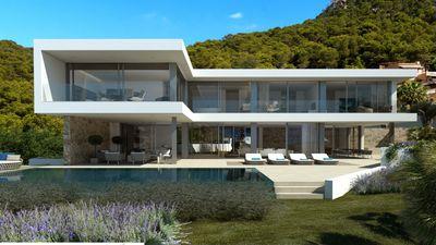 Das Villenprojekt mit Lizenz befindet sich auf einem nach Sudwesten ausgerichteten Grundstuck in der exklusiven Destination Port Andratx auf Mallorca