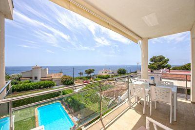Diese helle Wohnung liegt in zweiter Meereslinie in Cala Pi  Mallorca