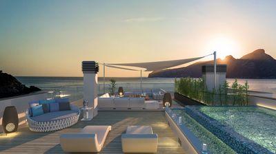 Grundstuck mit Baugenehmigung fur eine moderne Villa auf einem 200 m² grosen Grundstuck in erster Meereslinie mit herrlichem Meerblick und atemberaubenden
