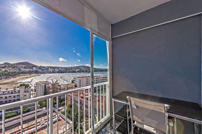 Mallorca Feeling pur erleben Sie in diesem gemutlichen Einzimmerappartement / Studio mit atemberaubenden Meerblick auf die Bucht von Santa Ponsa
