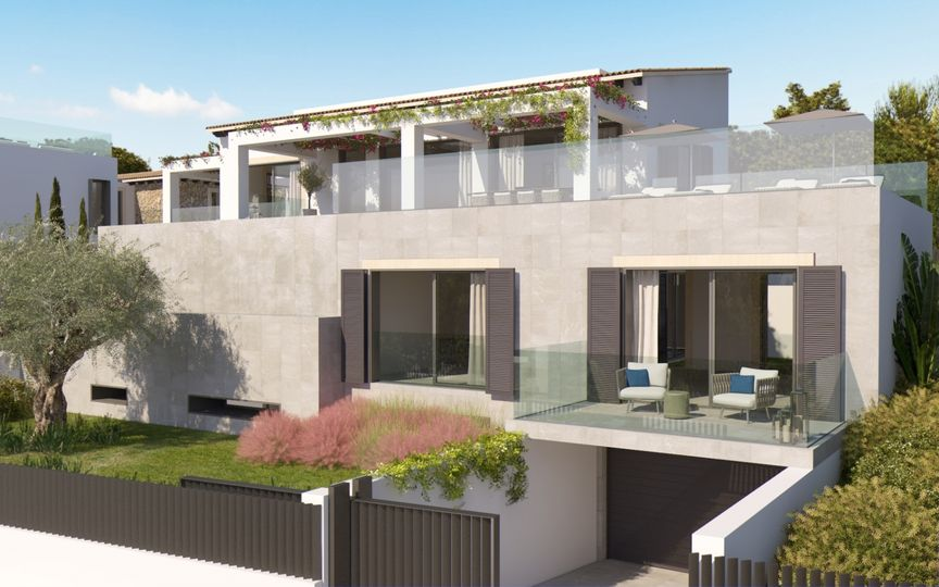Building plot of 867m2 for a one family house in the best residential area of Santa Ponsa.The building license has been applied and project is available