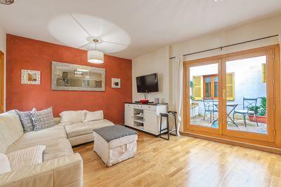 Diese renovierte Wohnung mit Terrasse liegt in der Altstadt von Palma de Mallorca