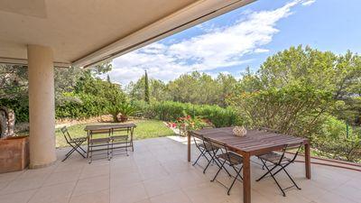 Herrliche Duplex-Wohnung mit Garten in wunderschoner Anlage in Sol de Mallorca im Sudewesten Mallorcas
