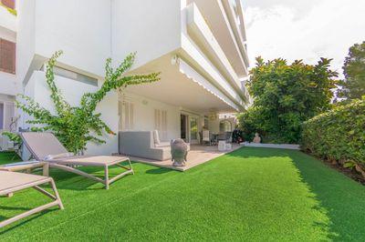 Moderne Erdgeschoss-Gartenwohnung in Bellresguard  Puerto de Pollensa zu verkaufen