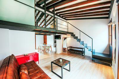 Bei diesem Objekt handelt es sich um ein renoviertes Apartment mit Loftcharakter im exklusiven Calatrava-Viertel  in der Altstadt von Palma de Mallorca