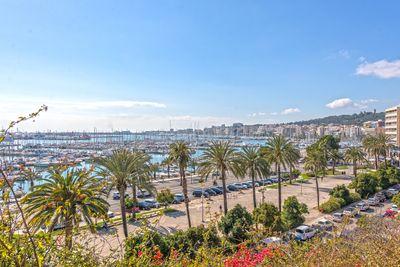 Dieses Dorfhaus mit Innenhof und toller Meerblick-Dachterrasse liegt in Es Jonquet  Palma de Mallorca