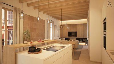 Diese helle  komplett renovierte Wohnung hat eine Toplage in der Altstadt von Palma de Mallorca