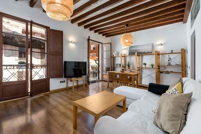 Diese charmante Wohnung liegt im Herzen der Altstadt von Palma de Mallorca