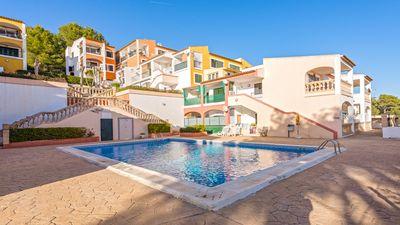 Gemutliche Immobilie in Santa Ponsa zu verkaufen    Das Studio befindet sich in einer schonen Gemeinschaft  hat ein Badezimmer  ein Wohnzimmer  eine Kuche  eine