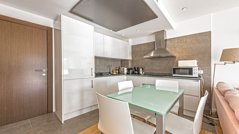 This newly built apartment is located in Palmanova and was compleated in 2016
