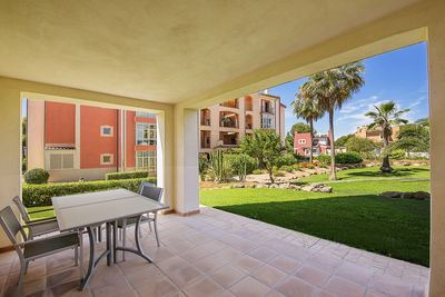 Lovely ground floor apartment in the community Belavent right at the golf course in Santa Ponsa and close to the famous Port Adriano with its small beach  the