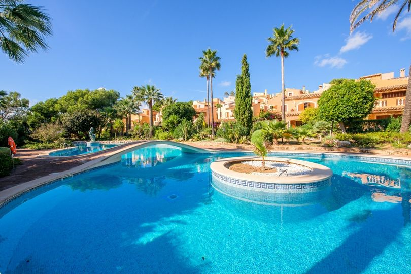 Exclusive house located in Valle Dorado, Costa de la Calma with stunning views of the Balearic Sea.   The house of 180 square meters is divided in two floors