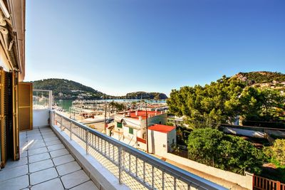 Cozy apartment with fantastic views of the Club de Vela  the harbor of Puerto Andratx and the surrounding mountains