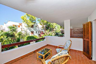 """Ferienapartment im mediterranen Stil gelegen in einer Ferienanlage """"Porto Drac"""" in Sant Elm in erster Meereslinie"""
